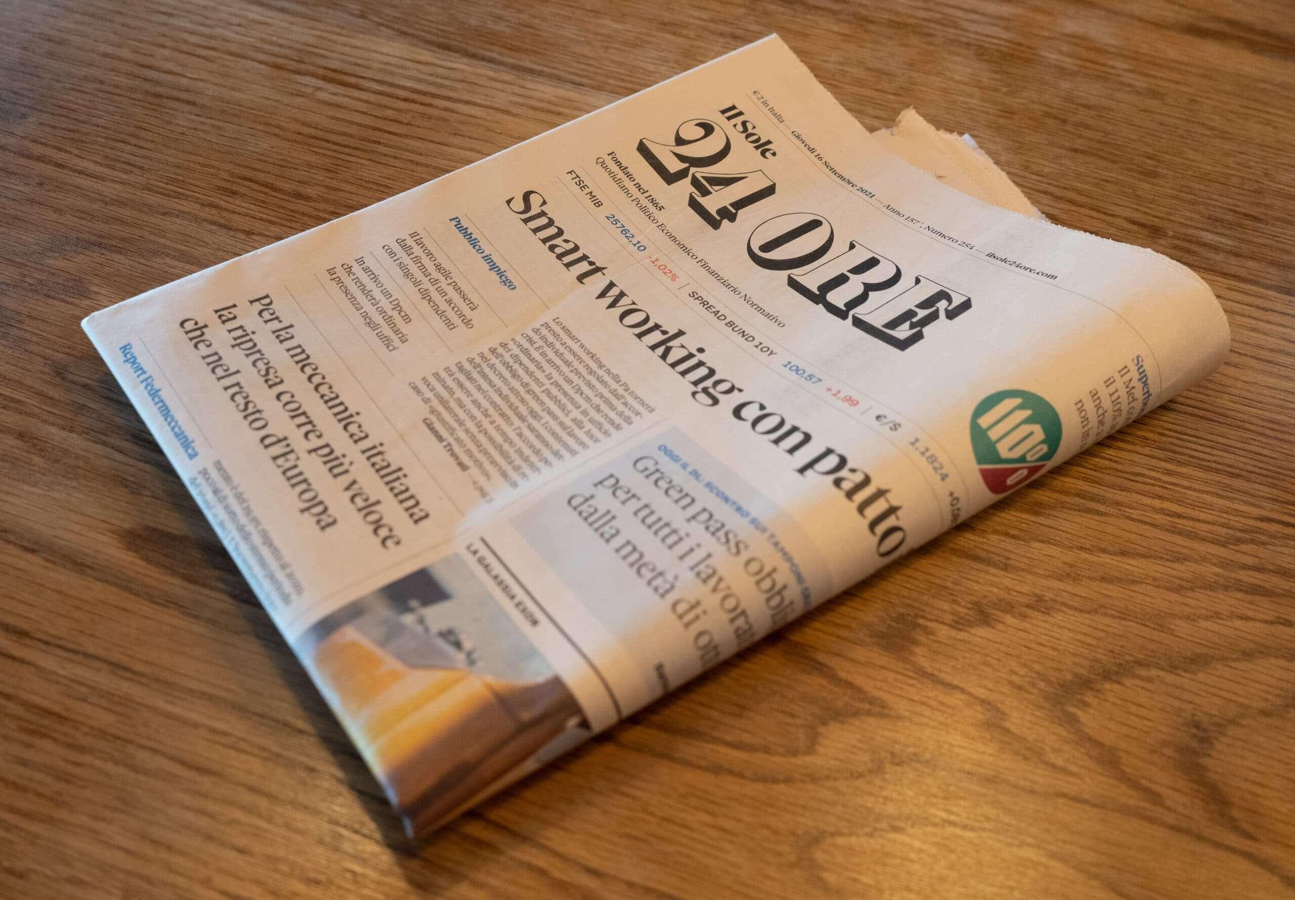 Articolo Dinets Sole 24 Ore